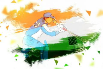 CBI-Indian-painted- cricket batsman