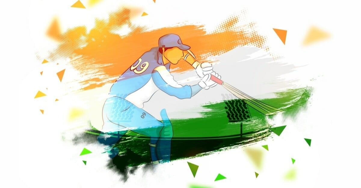 CBI-Indian-painted- cricket batsman