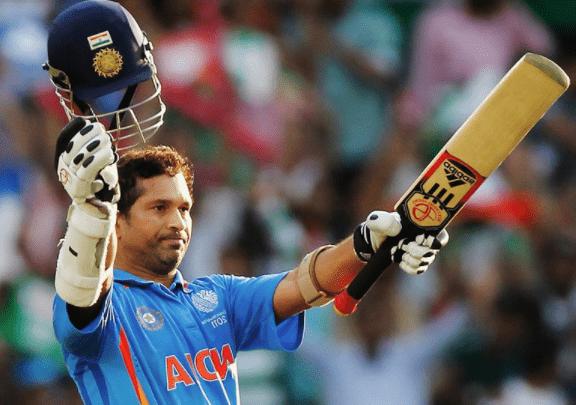 Sachin Tendulkar Lifting Bat