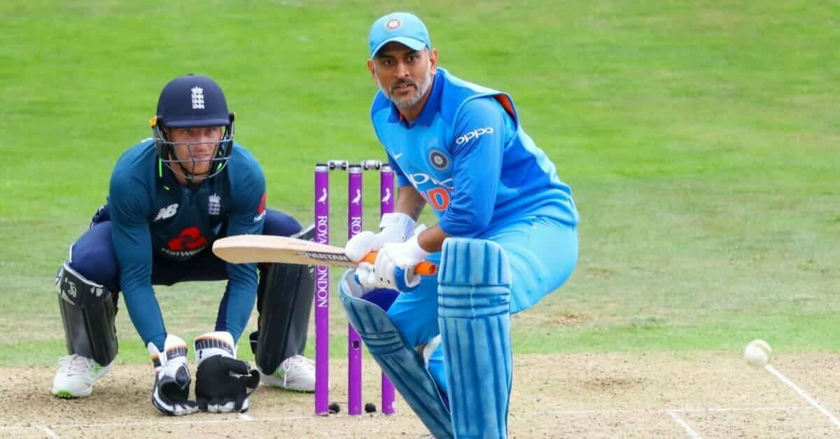 MS Dhoni at the wicket