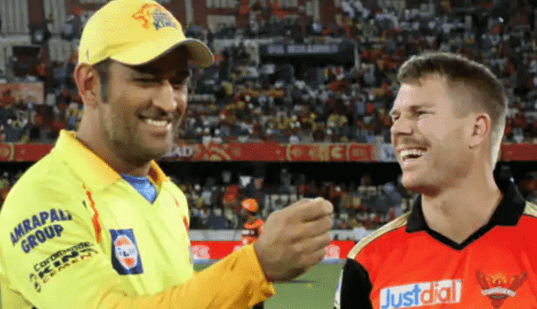 MS DHoni and David Warner will lead the sides out