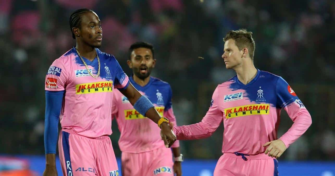 Rajasthan Royals - Steve Smith with Jofra Archer