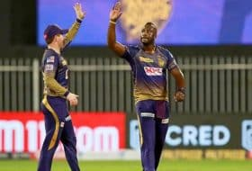 Andre Russell and Eoin Morgan for KKR