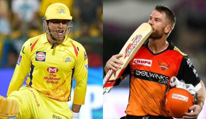 David Warner and MS Dhoni meet for the second time