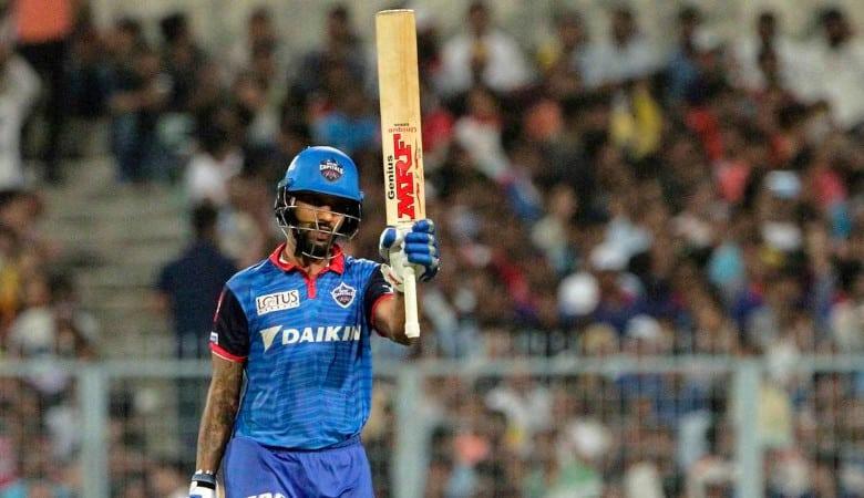 Shikhar Dhawan scored his maiden IPL century