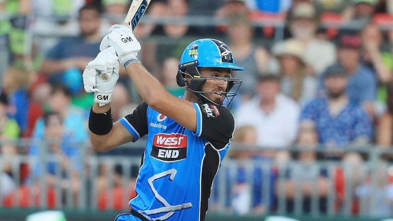 Jake Weatherald has found form in the middle order for the Strikers