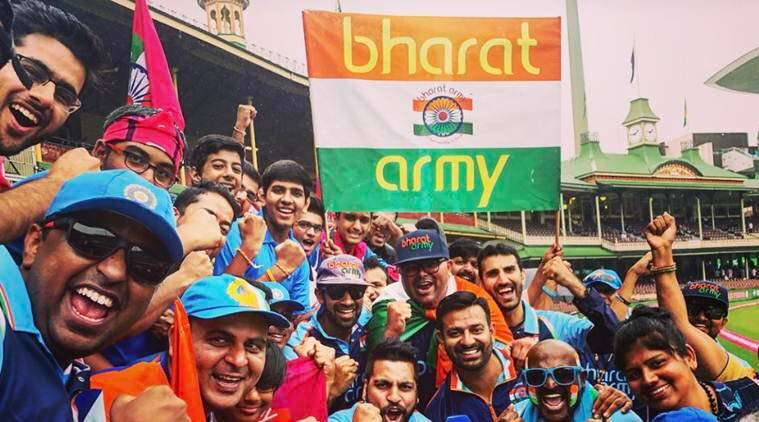 The Bharat Army in the stadium