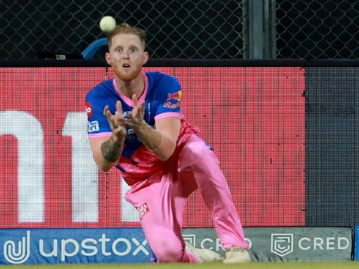 Ben Stokes takes catch in IPL