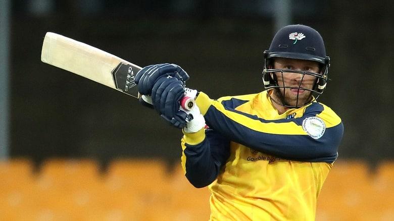 David Willey Yorkshire YOR vs WAR Vitality T20 Blast 2021