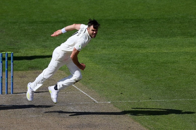 James Anderson 1000 first class wickets Lancashire vs Kent